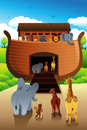 Noahs ark a vector illustration of Stock Photo