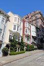 Nob hill san francisco california united states beautiful old architecture in area Stock Photos