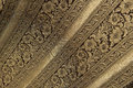 Noble Floral Brocade Fabric With Gold Royalty Free Stock Photos