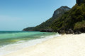Nobody at a beach at the angthong marine national park in thailand desolate Stock Photo