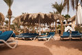 Nobody is on the beach egypt taba Royalty Free Stock Image