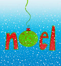 Noel in Snowflakes Stock Photography