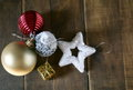 Noel star new year decoration and Royalty Free Stock Photos