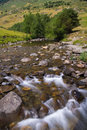 Noguera pallaresa river aran valley spain detail of near of montgarri sanctuary pyrenees Royalty Free Stock Image