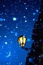 Noite de art romantic christmas Imagem de Stock