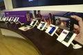 Nokia smart phones in Microsoft store Royalty Free Stock Photo