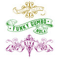 NOLA Diva Funky Gumbo New Orleans Designs Royalty Free Stock Photo