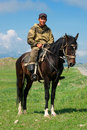 Nomad with his  horse Royalty Free Stock Images