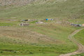 Nomad summer encampments for herding in eastern turkey Stock Images