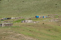 Nomad summer encampments for herding in eastern turkey Royalty Free Stock Photos