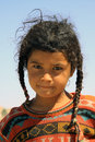 Nomads child in egypt little girl Royalty Free Stock Photo