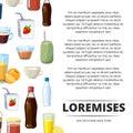Non-alcoholic cartoon drinks poster design