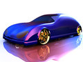 Non branded generic concept car for adv or others purpose use Stock Image