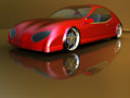 Non branded generic concept car for adv or others purpose use Royalty Free Stock Photo