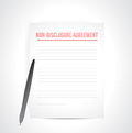 Non disclosure agreement docs documents illustration design over white Stock Image