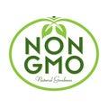 Non GMO Natural Goodness Logo Icon Symbol Royalty Free Stock Photo