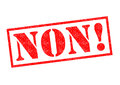 NON! Rubber Stamp Royalty Free Stock Photo