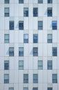 Non symmetric abstract background. Building facade. Royalty Free Stock Photo