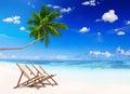 Non-Urban Scene of Tropical Beach in Summer Royalty Free Stock Photo