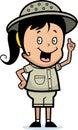 发现探险家女孩 免版税库存照片