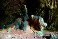 洞色的岩石 免版税库存图片