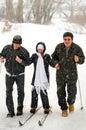 жизнерадостная зима семьи Стоковая Фотография