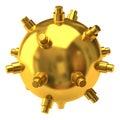 золотодобывающий рудник военноморской Стоковое фото RF