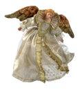 天使古色古香的圣诞节装饰品 免版税库存照片