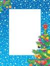 圣诞节框架照片 免版税库存照片