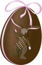 кролик пасхального яйца Стоковое Изображение
