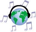 音乐世界 库存图片