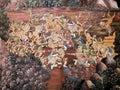 绘泰国墙壁的艺术金子 免版税图库摄影
