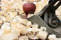 木木匠平面的削片 库存图片