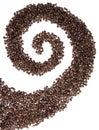 στρόβιλος καφέ φασολιών Στοκ Εικόνα