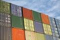 перевозка груза перевозки экспорта контейнеров Стоковое Фото