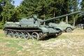 过时苏联坦克 免版税库存图片