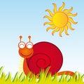 动画片蜗牛 库存照片