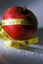 健康苹果的饮食 图库摄影