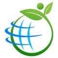 地球徽标保存 图库摄影
