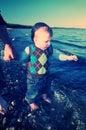 Κόλπος που κωπηλατεί στη θάλασσα Στοκ Εικόνες