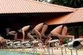 竞争游泳 免版税图库摄影
