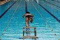 竞争游泳 免版税库存图片
