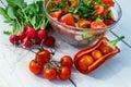 新鲜的做的沙拉蔬菜 库存图片