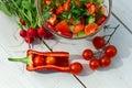 υγιής γίνοντη σαλάτα κήπων Στοκ Φωτογραφίες