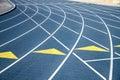 签署体育场跟踪 免版税库存图片