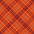红色苏格兰被检查的织品无缝的模式 库存图片