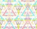 抽象几何无缝的阿兹台克模式。 免版税库存图片