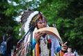 街道艺术家印第安民间音乐组 库存图片