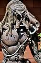 电烙在清迈,泰国街道的掠食性动物。 库存图片
