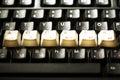 键盘通入钥匙 免版税库存照片